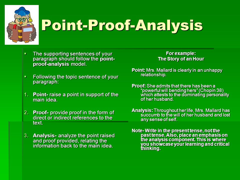 essay format point proof With some kind of proof numbered phrases or if they want you to use the narrative format the four most important points to remember in answering essay.