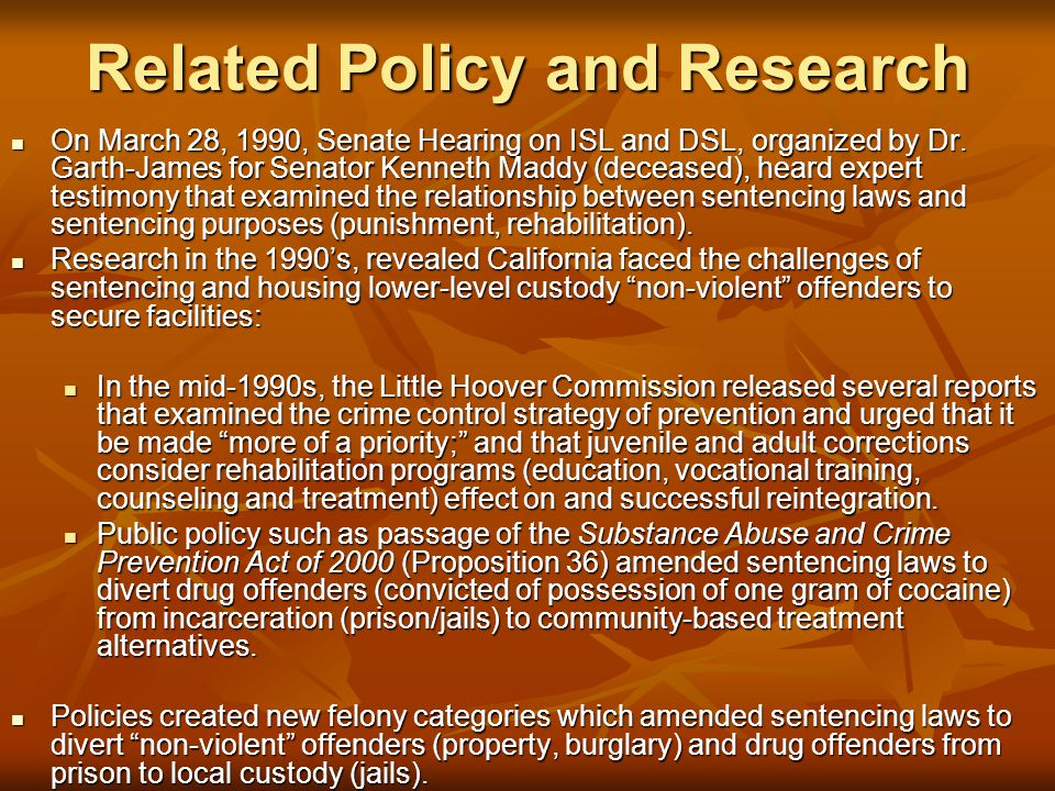 Related Policy and Research