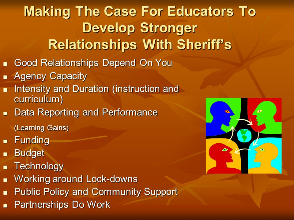 Making The Case For Educators To Develop Stronger Relationships With Sheriff's