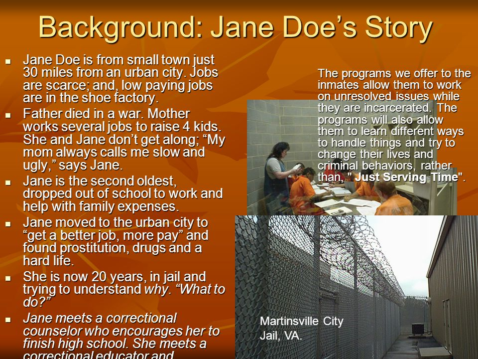 Background: Jane Doe's Story