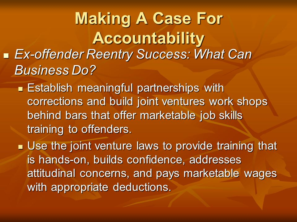 Making A Case For Accountability
