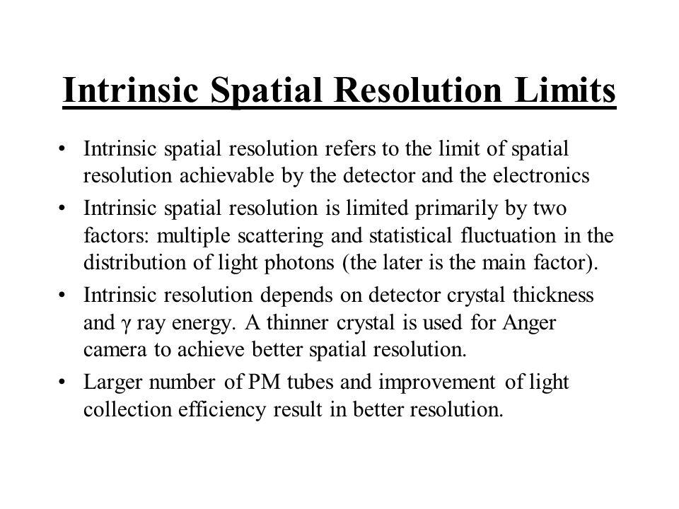 Intrinsic Spatial Resolution Limits