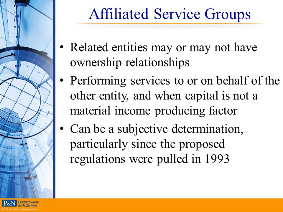 Affiliated Service Groups