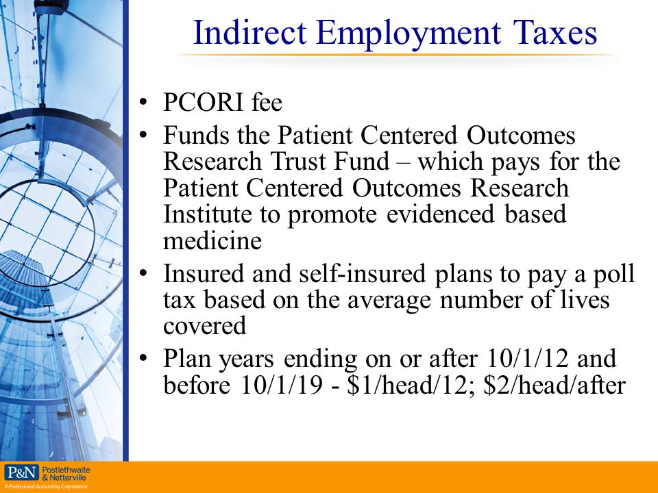 Indirect Employment Taxes