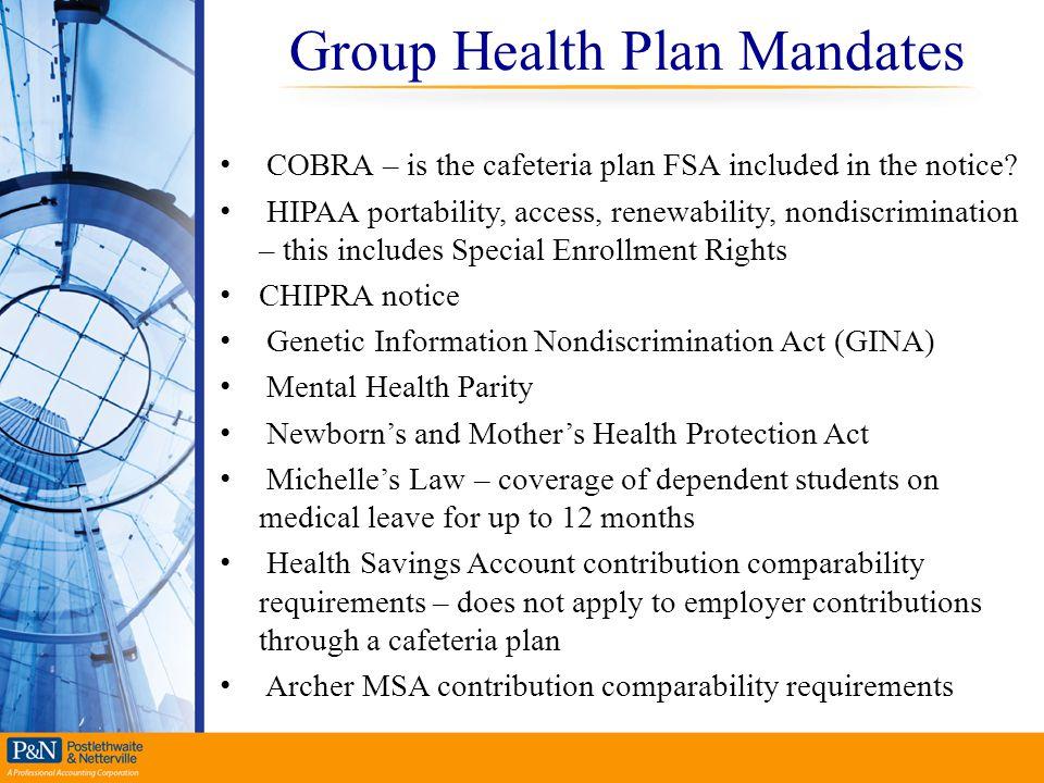 Group Health Plan Mandates