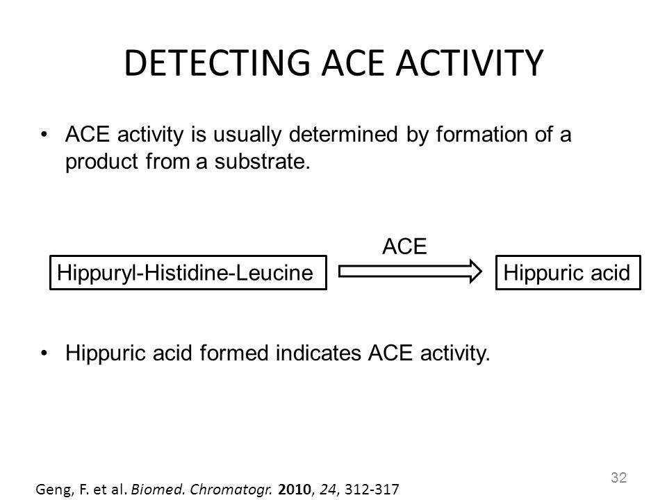 DETECTING ACE ACTIVITY
