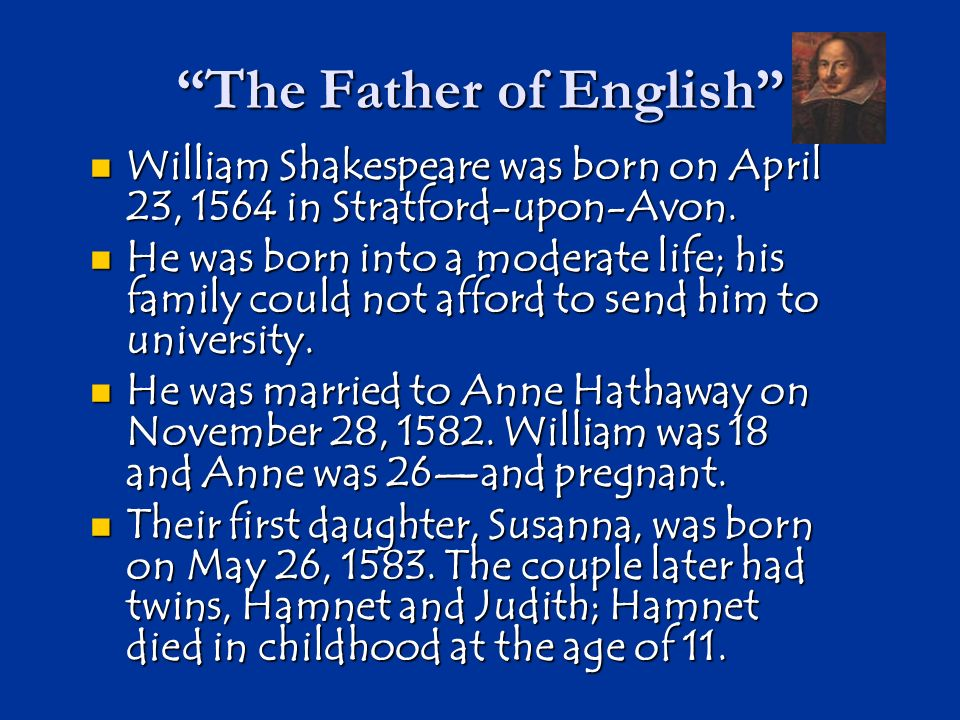 The Father of English