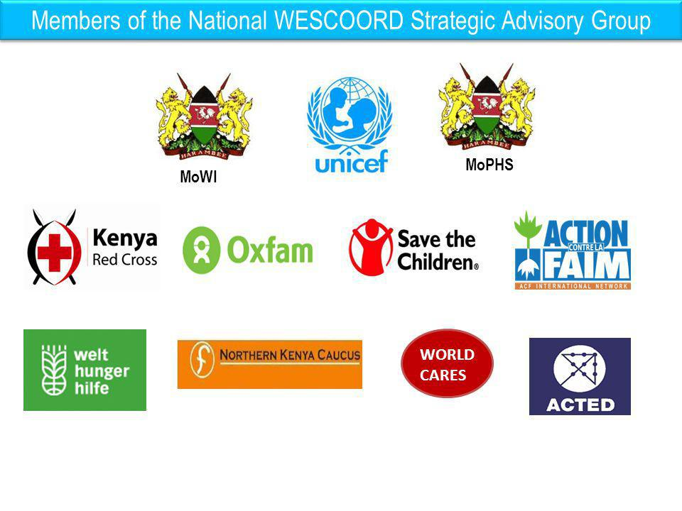 Members of the National WESCOORD Strategic Advisory Group