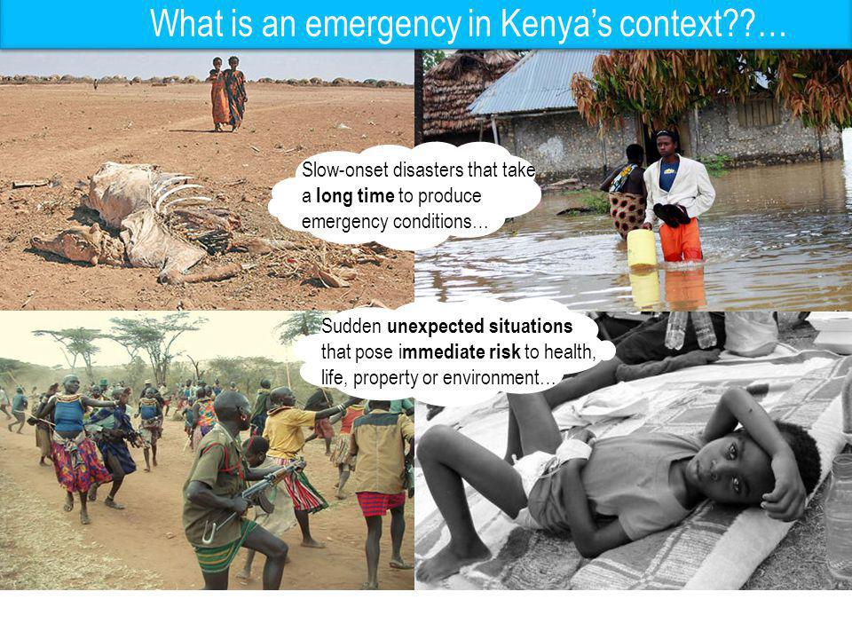 What is an emergency in Kenya's context …