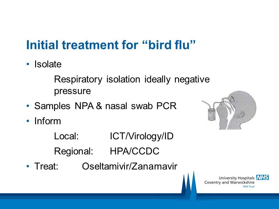 Initial treatment for bird flu