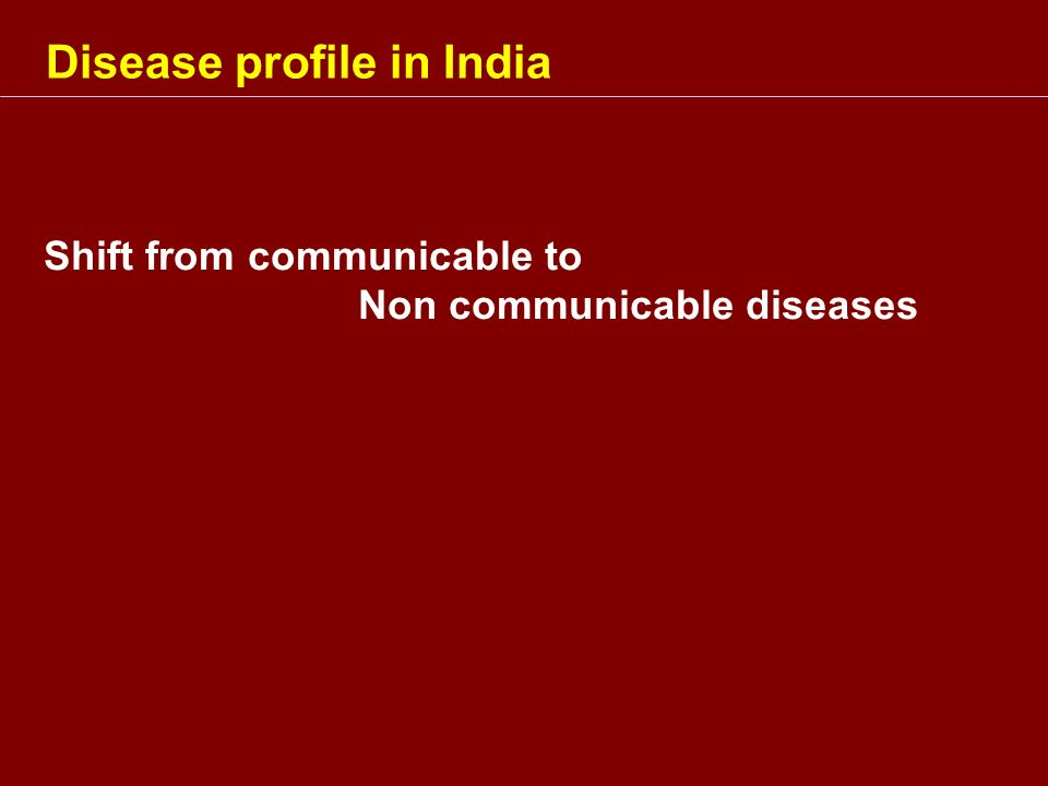 Disease profile in India