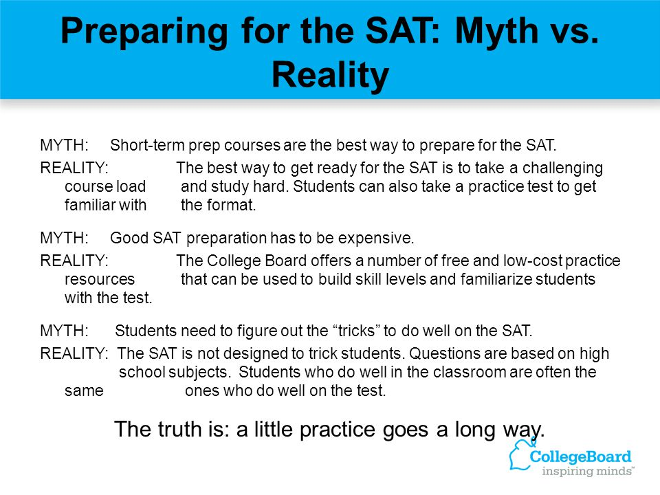Preparing for the SAT: Myth vs. Reality