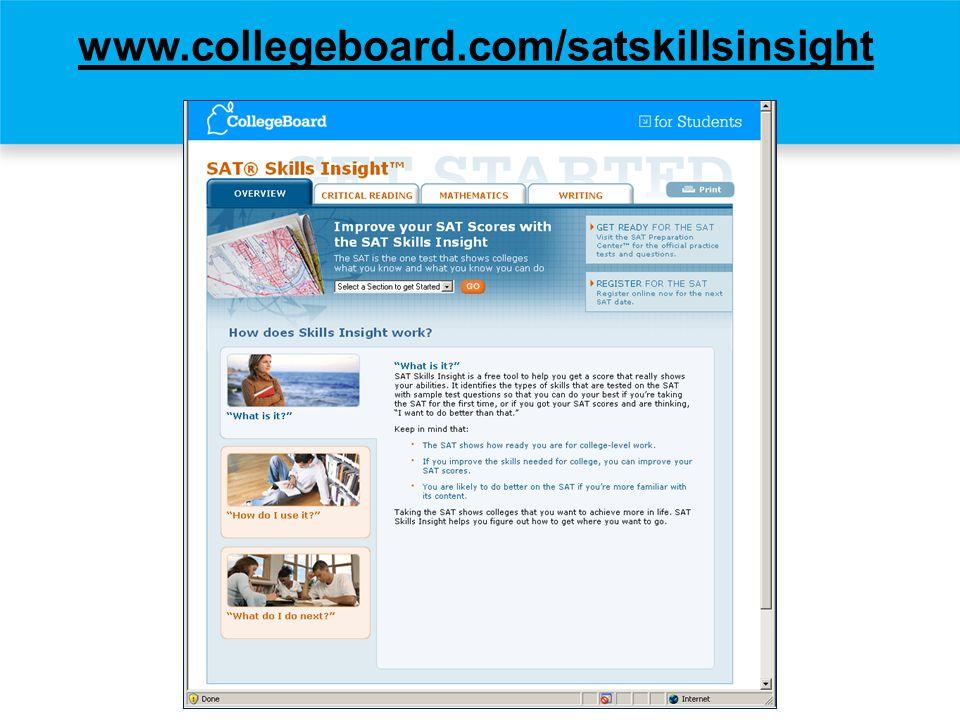 www.collegeboard.com/satskillsinsight (Test Dev. presenter)