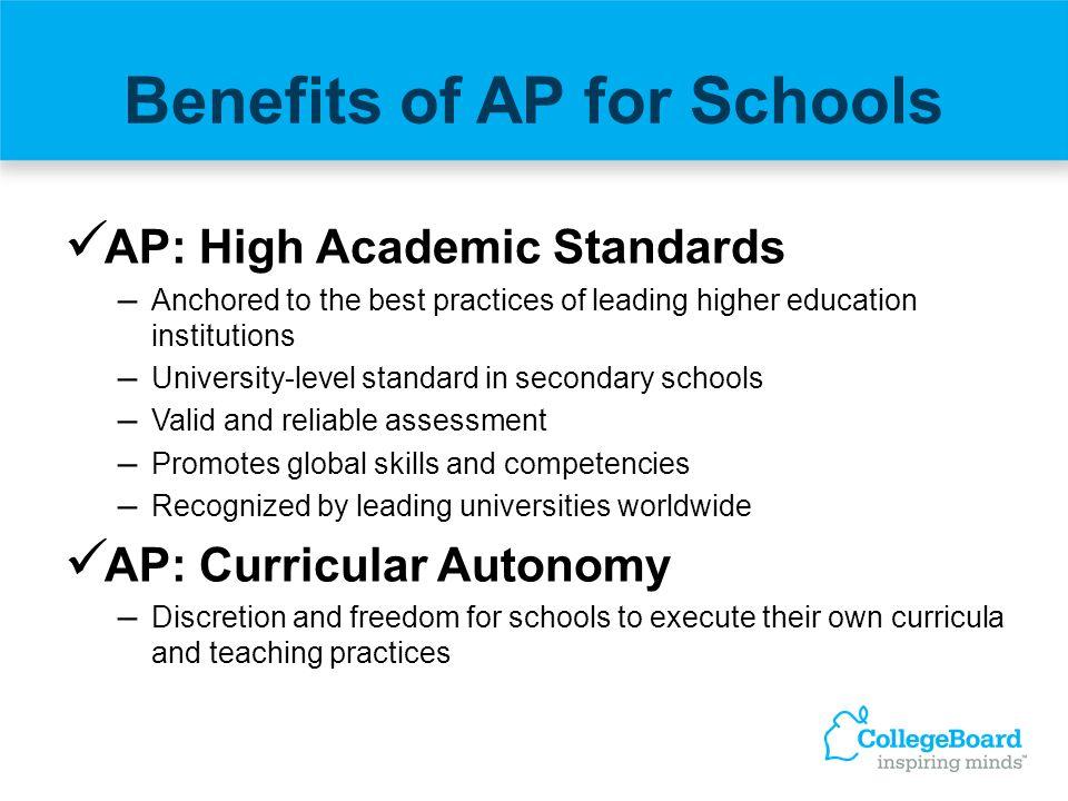 Benefits of AP for Schools