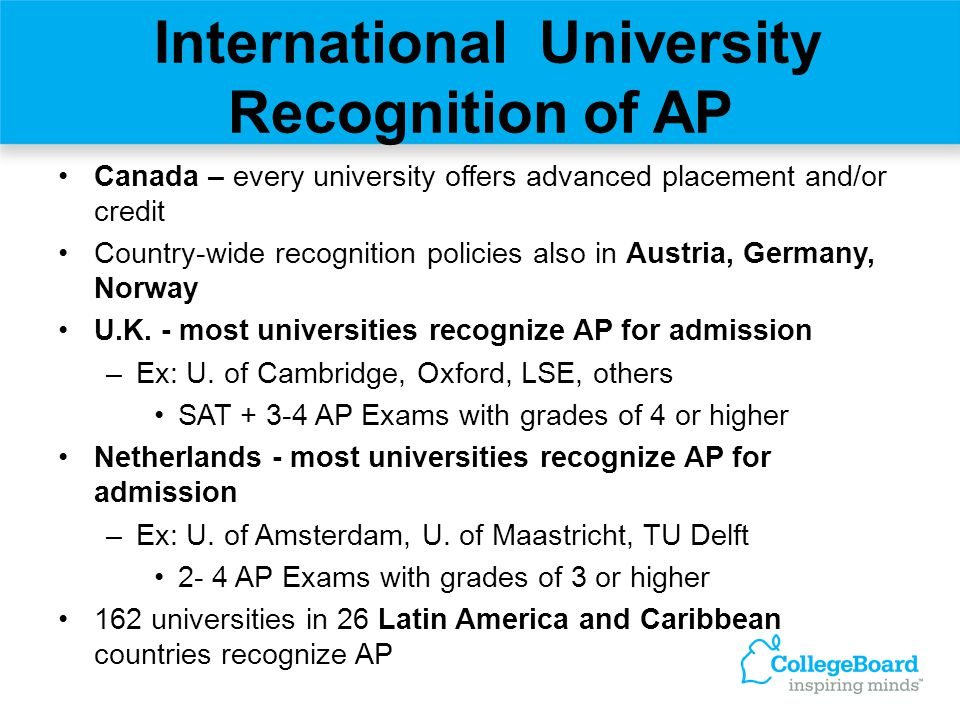 International University Recognition of AP