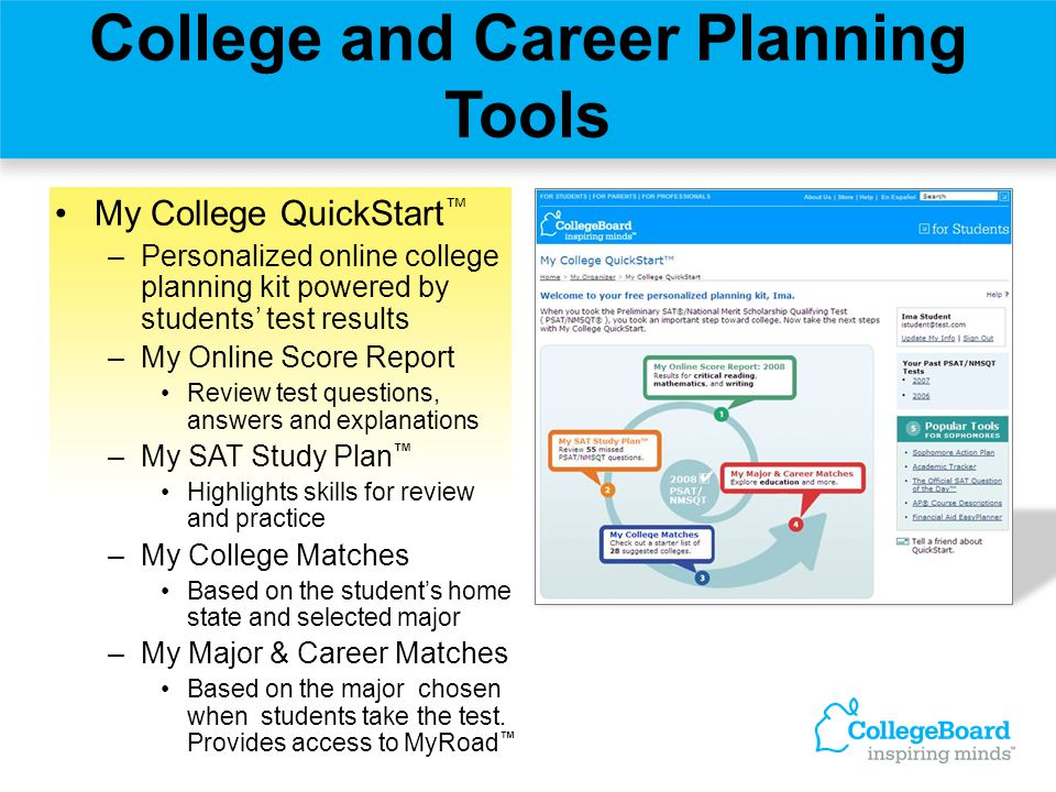 College and Career Planning Tools