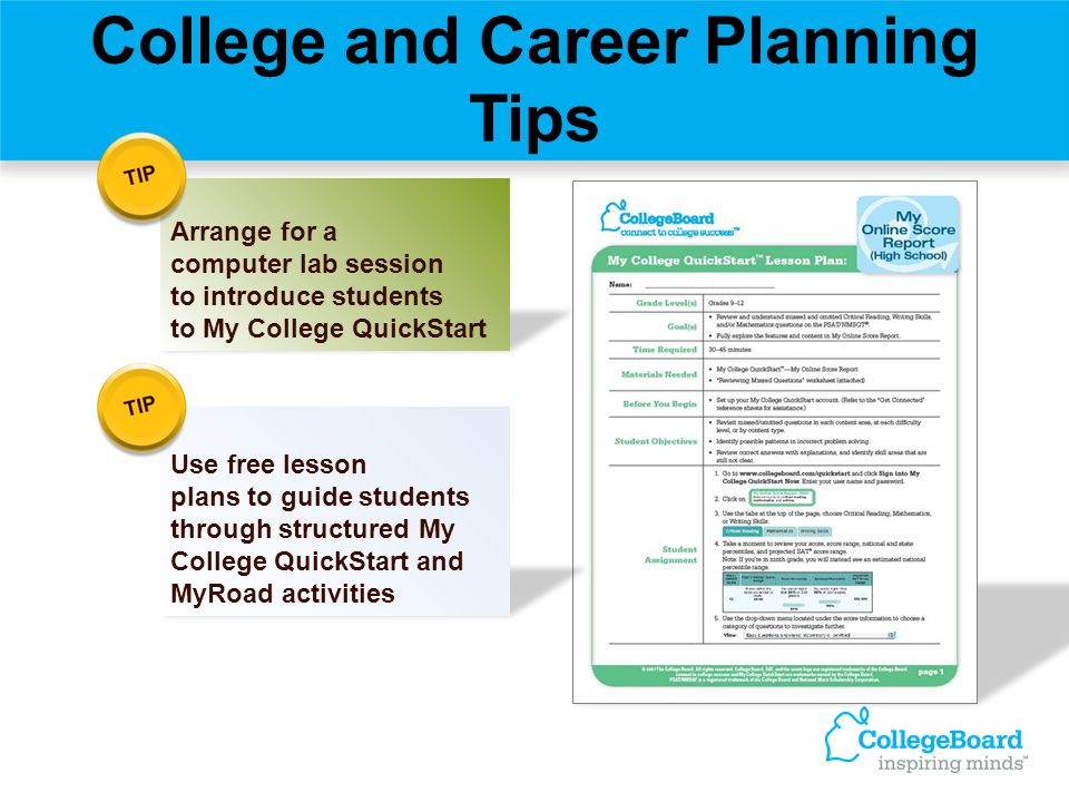 College and Career Planning Tips