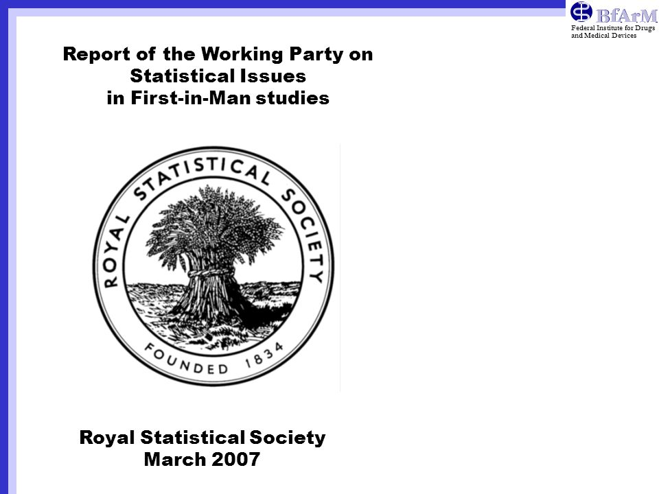 Report of the Working Party on Statistical Issues