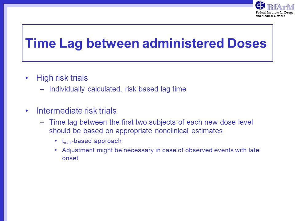 Time Lag between administered Doses