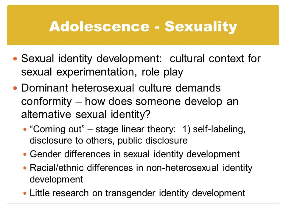 Adolescence - Sexuality