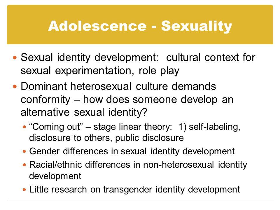 Adolescence - Sexuality