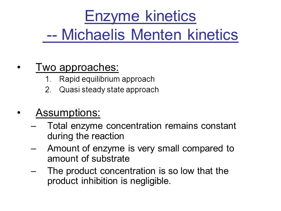 a study of enzyme kinetics Enzyme kinetics enzyme kinetics is the study of the chemical reactions that are catalysed by enzymes, with a focus on their reaction rates the study of.