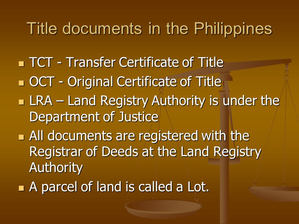 Title documents in the Philippines