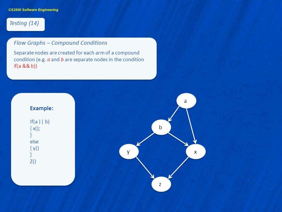 Flow Graphs – Compound Conditions