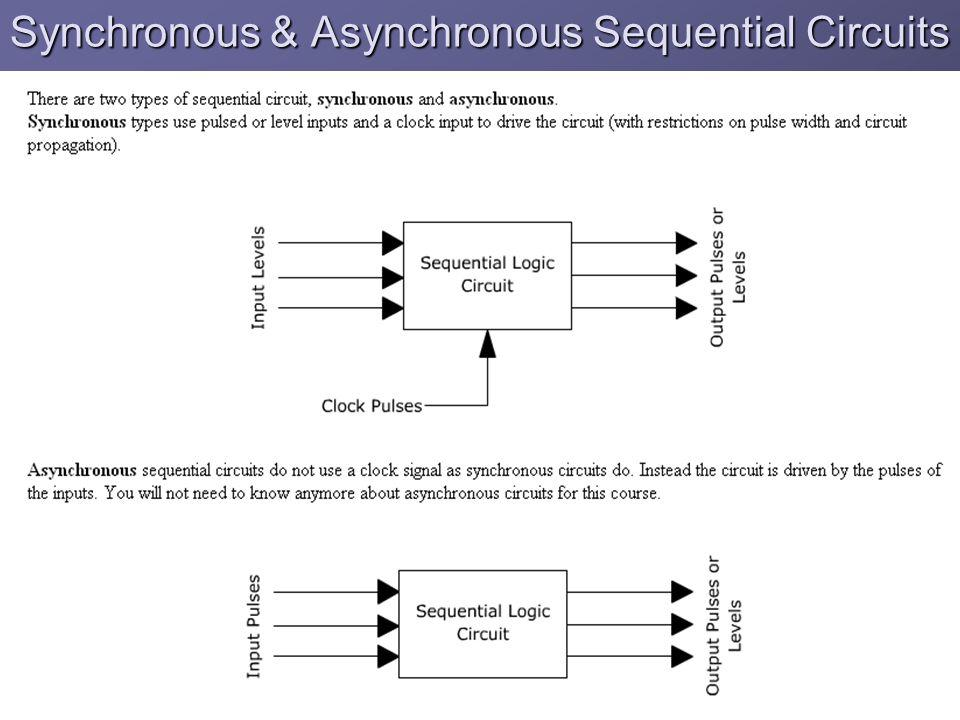 Synchronous & Asynchronous Sequential Circuits