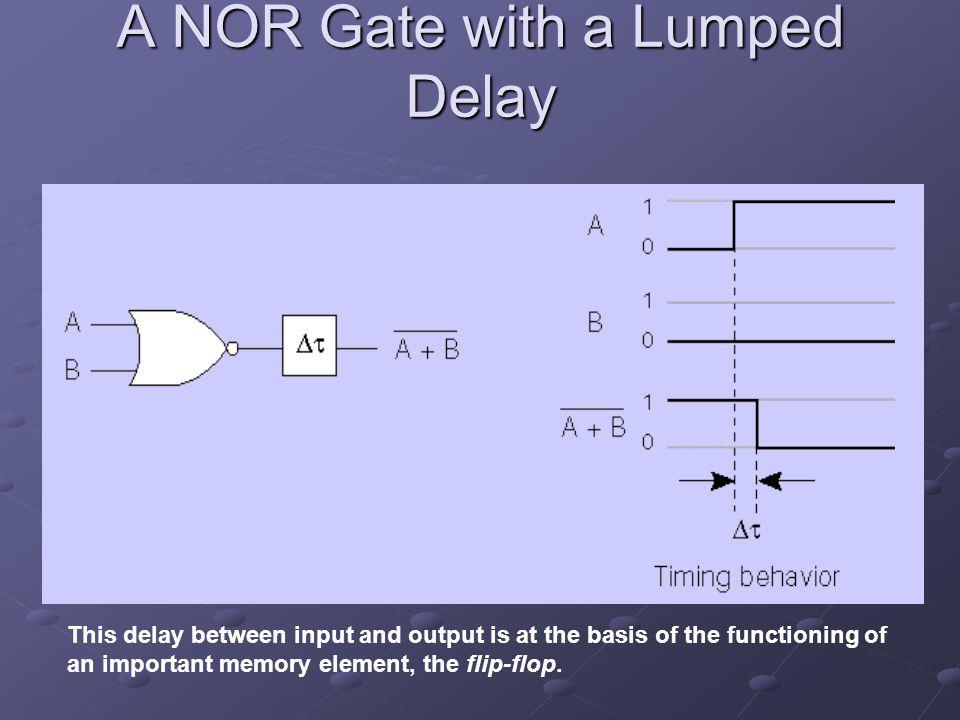 A NOR Gate with a Lumped Delay