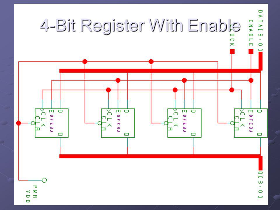 4-Bit Register With Enable