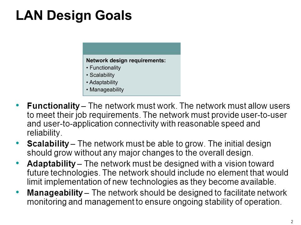 LAN Design Goals