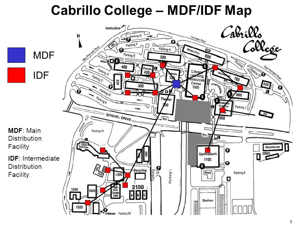 Cabrillo College – MDF/IDF Map