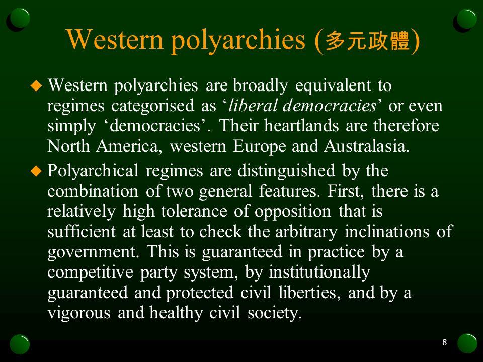 Western polyarchies (多元政體)