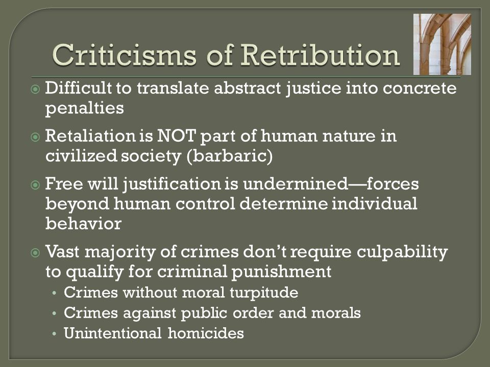 Criticisms of Retribution