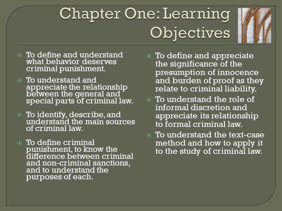 Chapter One: Learning Objectives