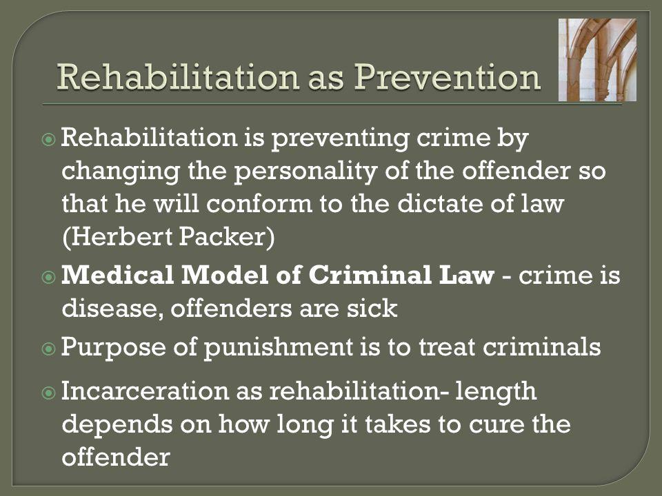 Rehabilitation as Prevention