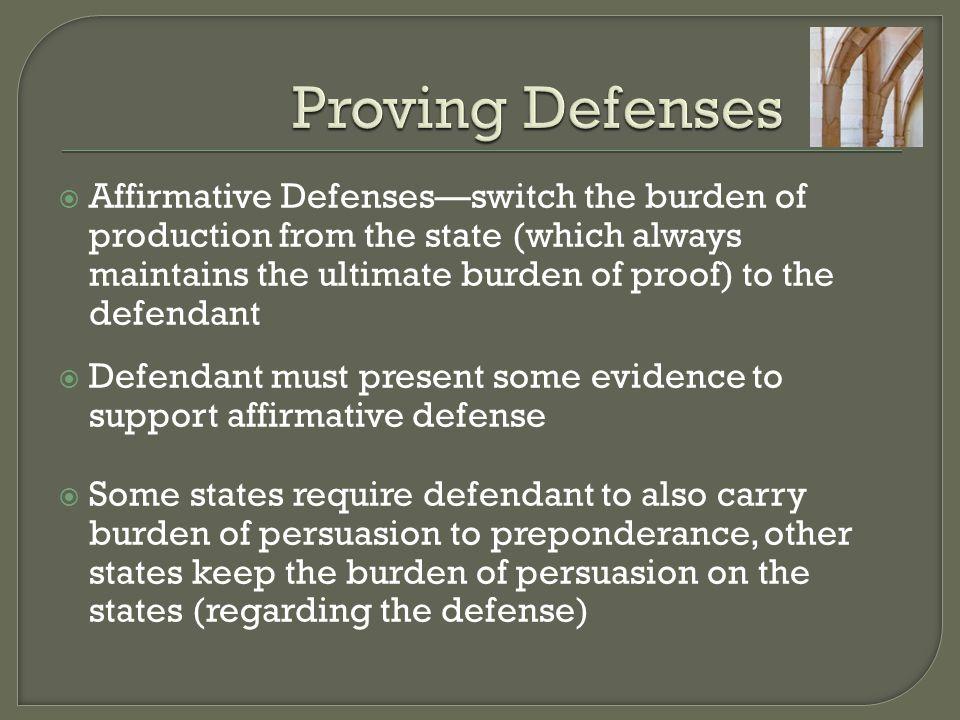 Proving Defenses