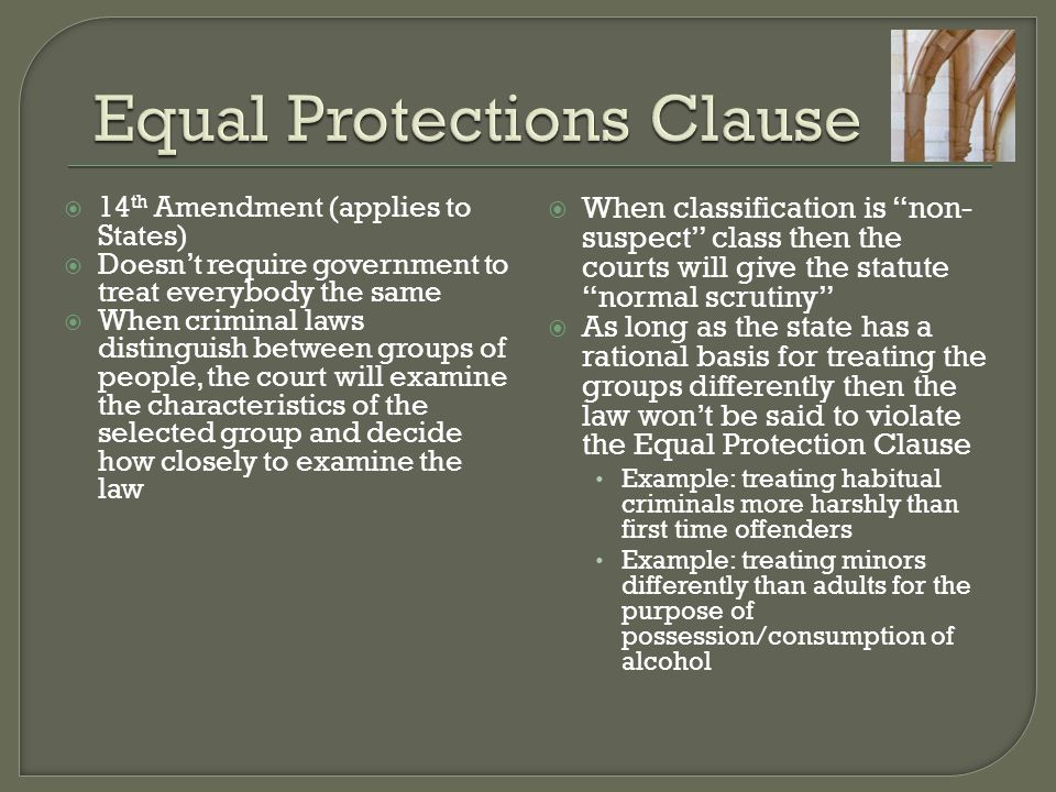 Equal Protections Clause