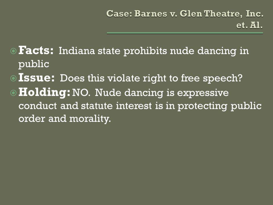 Case: Barnes v. Glen Theatre, Inc. et. Al.
