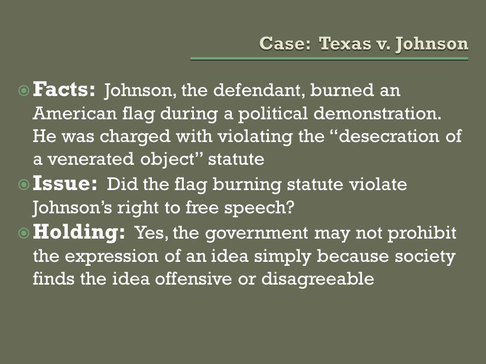 Case: Texas v. Johnson