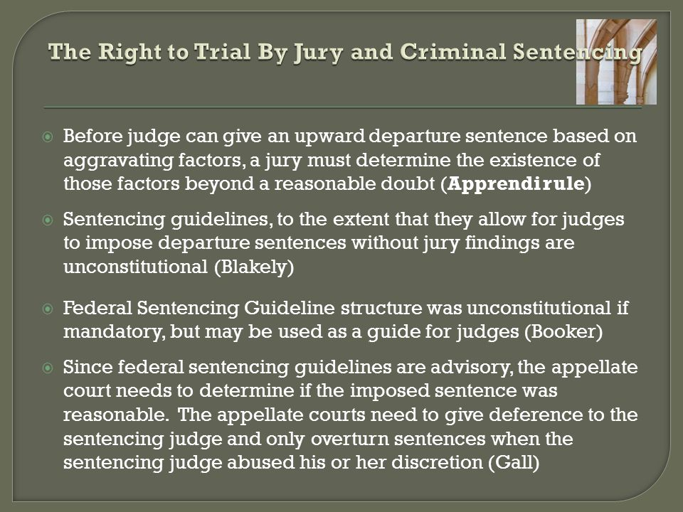 The Right to Trial By Jury and Criminal Sentencing