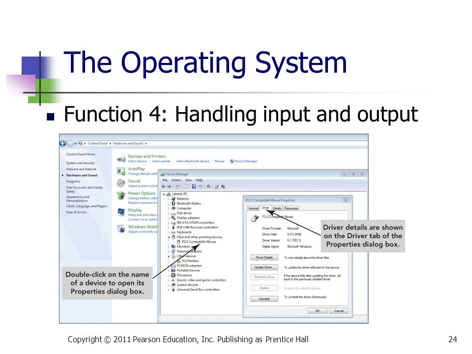 The Operating System Function 4: Handling input and output
