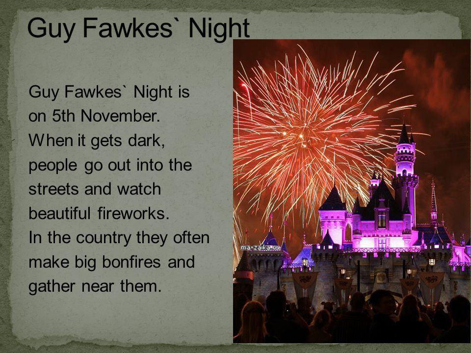 Guy Fawkes` Night
