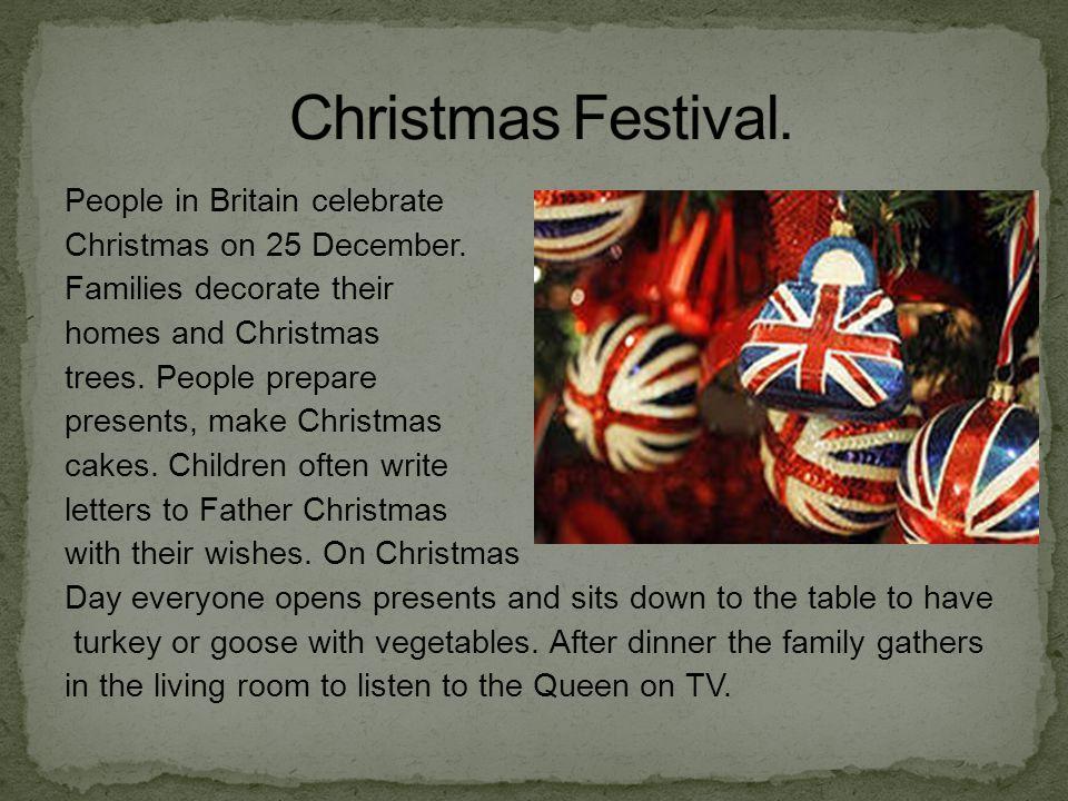 Christmas Festival.