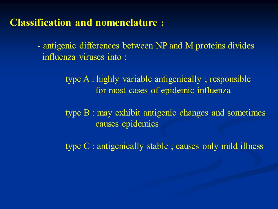 Classification and nomenclature :