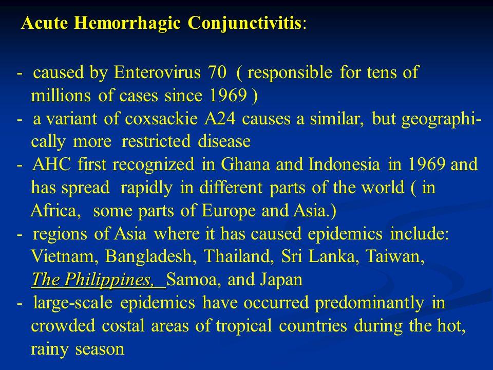 Acute Hemorrhagic Conjunctivitis: