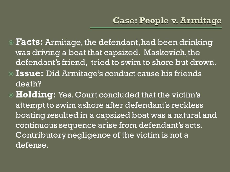 Case: People v. Armitage