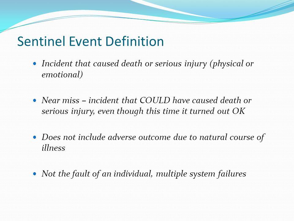 Sentinel Event Definition
