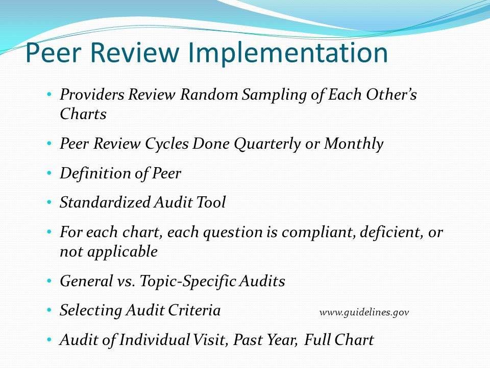 Peer Review Implementation